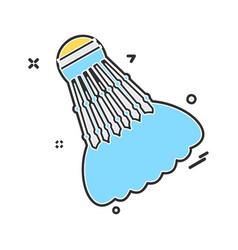 badminton icon design vector image