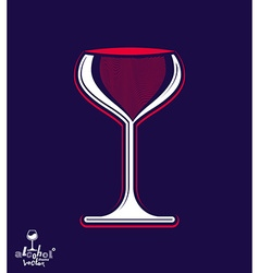 Beautiful sophisticated pink wine goblet stylish vector