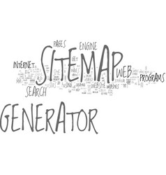 benefits of a seo sitemap generator text word vector image
