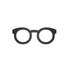 Black glasses icon isolated on white background vector
