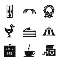 boyishness icons set simple style vector image vector image