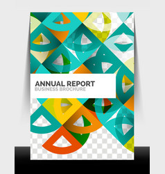 Business flyer annual report circle and triangle vector