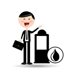 businessman oil concept station pump vector image