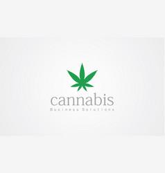cannabis logo vector image