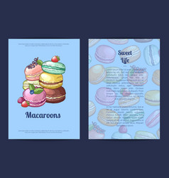 card or brochure template for sweet or vector image