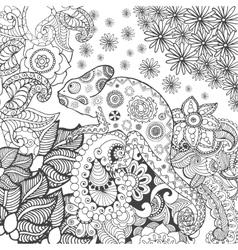 Chameleon in fantasy forest vector image