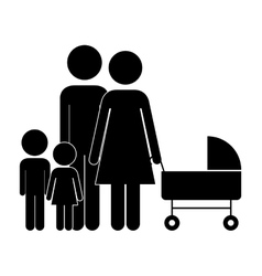 Cute family pictogram vector image