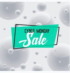 cyber monday sale gray background abstract design vector image