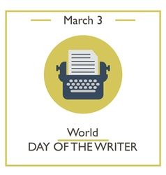 Day of Writer vector