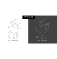 Deer icon on white and black vector