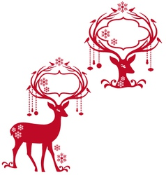 Deer with blank frames vector