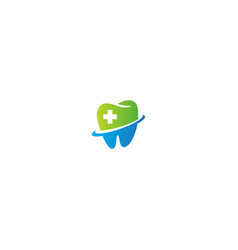 dental healthcare sign logo vector image