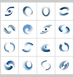 design elements set r vector image