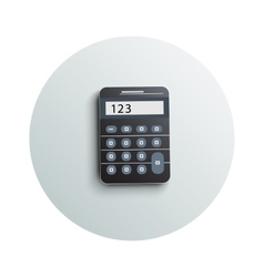 Detailed modern calculator business concept vector