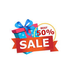 Discount sales proposition isolated sticker vector