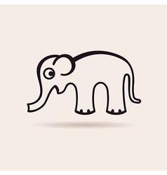 Elephant icon emblem vector