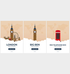 england london time to travel set of travel vector image