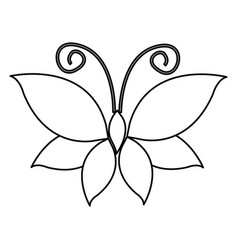 Figure butterfly with wings icon vector