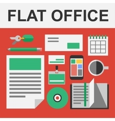 flat office set vector image