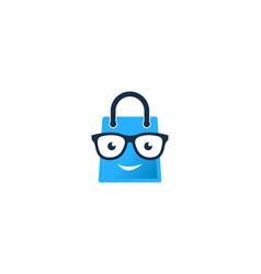 Geek shopping logo icon design vector