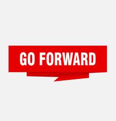 Go forward vector