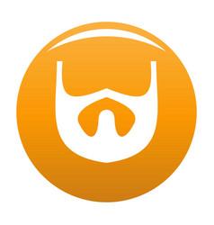 Growth of beard icon orange vector