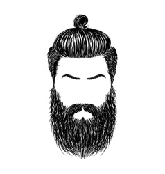 hair and beards vector image