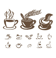 Hand drawn sketch of coffee on vector