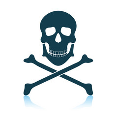 Icon poison from skill and bones vector