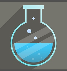 icon Science bottle long shadow vector image