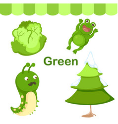 Isolated color green group vector