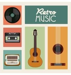 k icon Retro and Music design graphic vector image