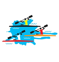 Kayaking competition vector