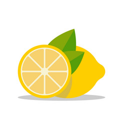 lemon icon in flat simple style vector image