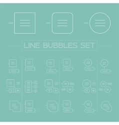 Line bubbles set vector image