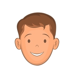 Male face with haircut icon cartoon style vector