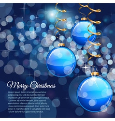 Merry Christmas flyer with glitter background vector