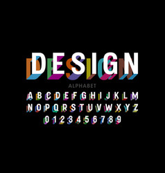 modern font design alphabet letters and numbers vector image