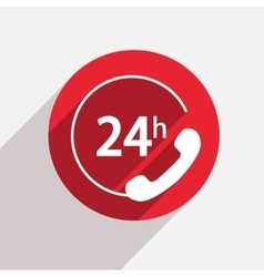 Modern support red circle icon vector