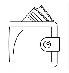 money wallet icon outline style vector image