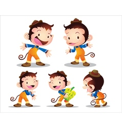 monkey worker vector image