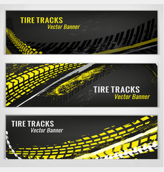 Motorcycle tire banners-18 vector