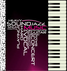 music purple piano background vector image
