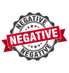 Negative stamp sign seal vector