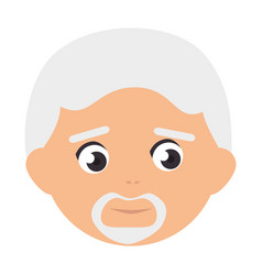old man avatar character vector image