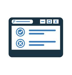 Online survey browsing icon design vector