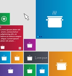 Pan cooking icon sign buttons modern interface vector