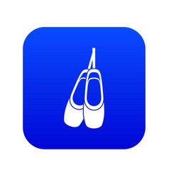 Pointe shoes icon digital blue vector