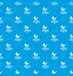 pram pattern seamless blue vector image