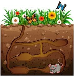 Rat hole under garden vector